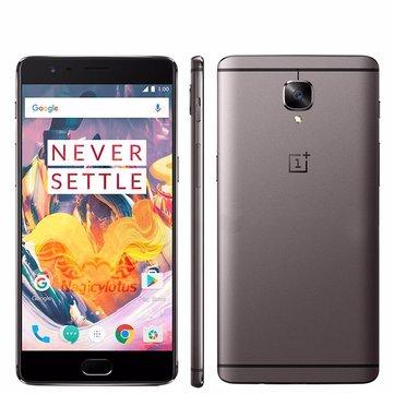 banggood OnePlus 3T Snapdragon 821 MSM8996 Pro 2.35GHz 4コア GRAY(グレイ)