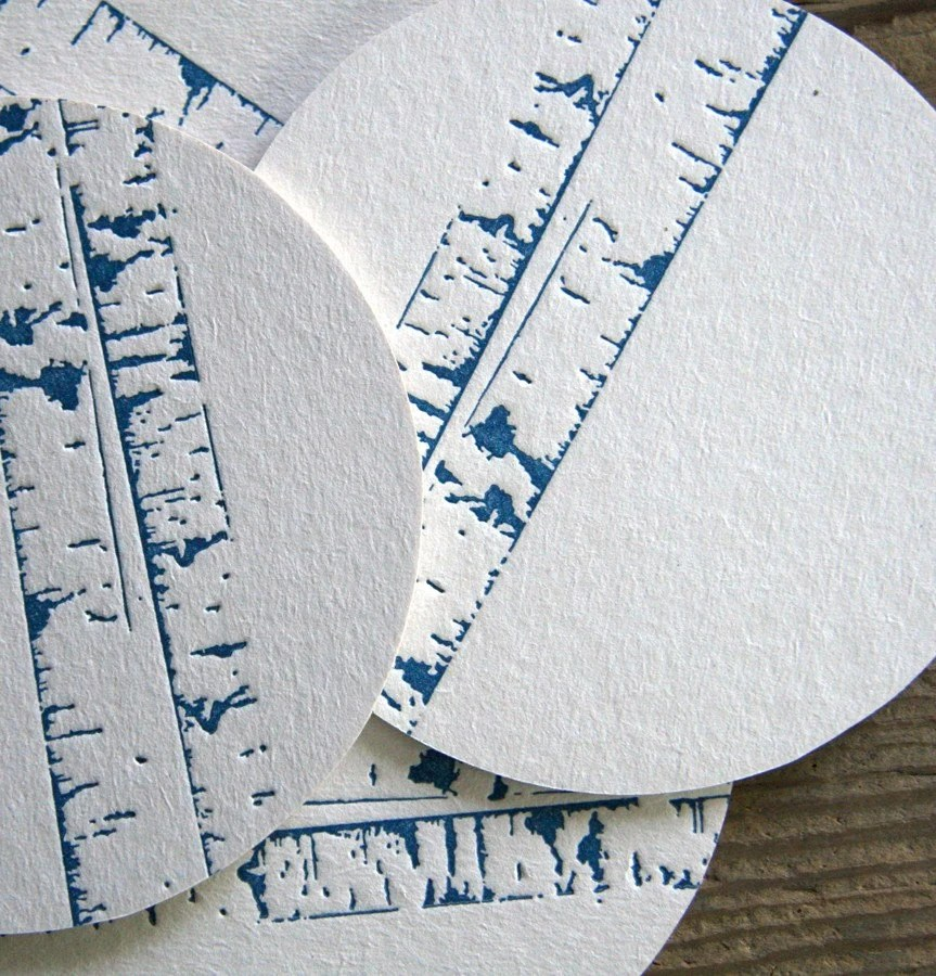 Birch Trees: Letterpress Coasters (10ct) - redbirdink
