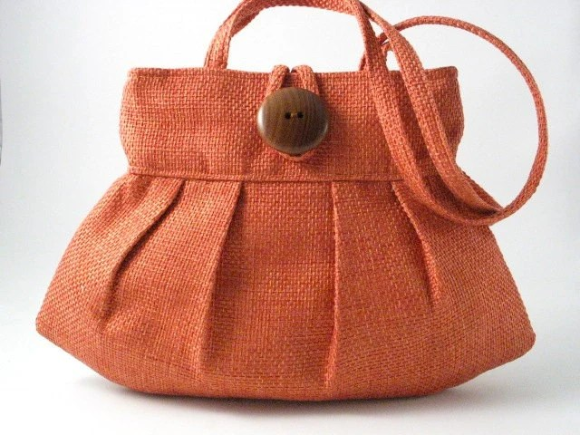 orange purse , small and sexy bag , handbag, shoulder bag , mini tote
