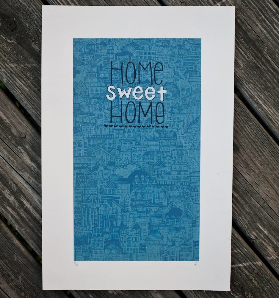 home sweet home city print - exit343design