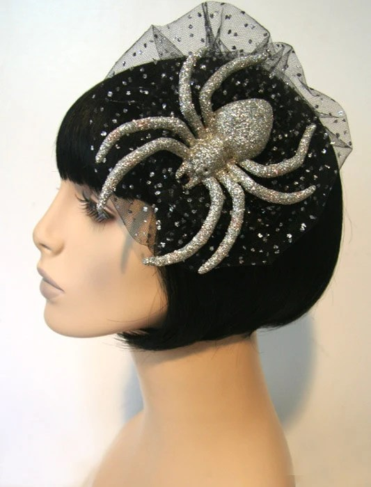 Perfect Sparkle Spider Hair Comb Lolita Goth Punk Burlesque Pinup by Cutie Dynamite - CutieDynamite