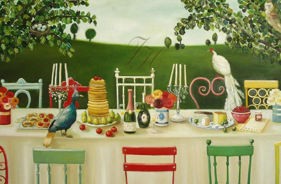 Lady Gertrude's Decadent Brunch With Flora And Fauna- Open Edition Print