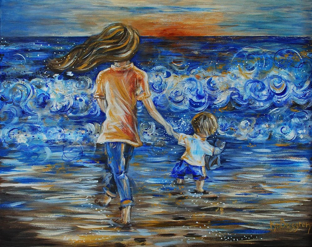 Mother and Child Beach Text