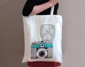 Diana Camera Tote Bag - cutcopycreate