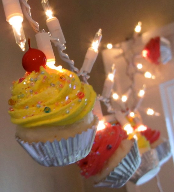 Fake Cupcake String of Lights Whimsical Wonderland Collection 12 Legs Orignal Concept Design 10 Mini Cupcakes Sweet Decor  First On Etsy - 12LegsCuriosities