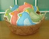 Bird Softie - Sky Blue - Justineellis