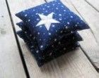 Night Sky Balsam Sachets in Navy Linen Set of 3 - Fall Home Decor, Aromatherapy, Hostess Favours, Spa Bathroom - AS SEEN in Cool Mom Picks - SewnNatural