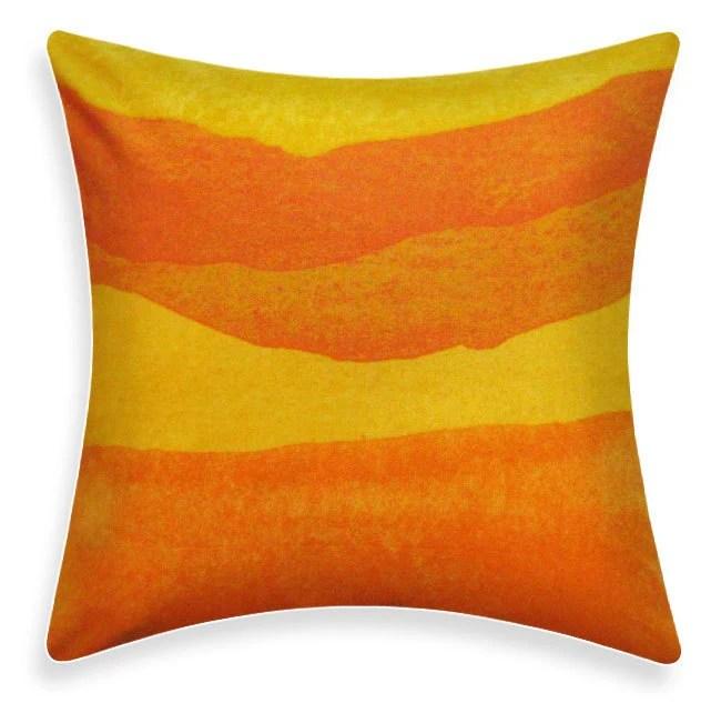 Marimekko Pillow Cover - Poukama Puuvilla Orange Yellow - ModDiva