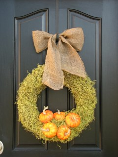 Autumn Wreath - The Pumpkin Patch - Personalized Fall Front Door Decor