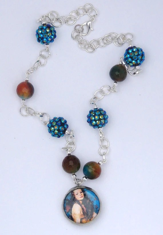 Fine Art Glass Soldered Beaded Necklace by Blue Desk Studio