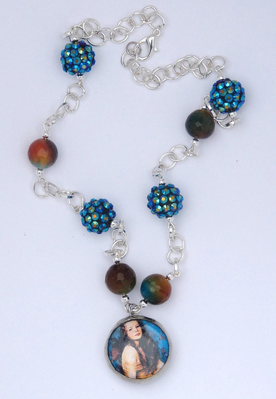 Fine Art Glass Soldered Beaded Necklace by Blue Desk Studio