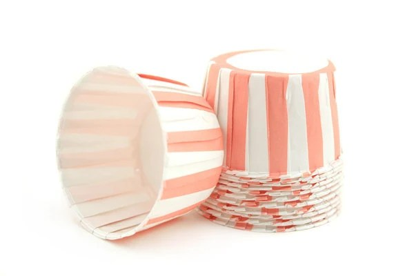 Candy Cups Soft Pink Stripe (24 qty) - pebblesinmypocket