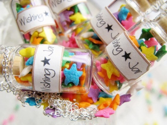 Wishing Star Jar Necklace - Glass Bottle Necklace - Mini Candy Jar - starfirewire