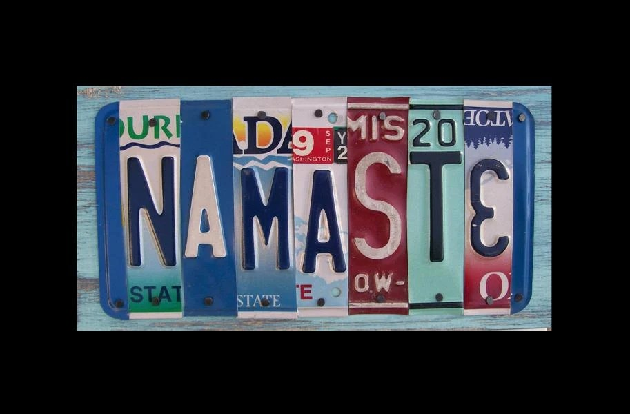 namaste license plate