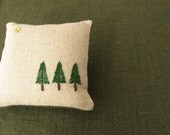 Pine Trees Hand Embroidered Pincushion - frommyatelier