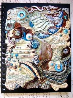 Bohemian Blues Polymer Clay Journal by RoyalKitness.etsy.com