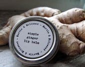simple ginger lip balm - MarbleandMilkweed