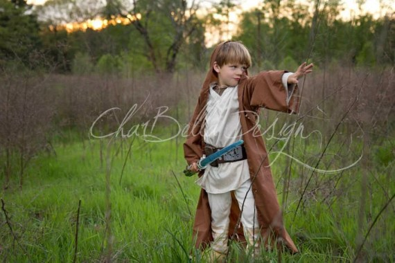 Brown Hooded Star Wars Jedi Cape Robe for Costumes and Battles - CharBellaDesign