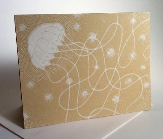 SIlkscreen Jellyfish - heyhoover