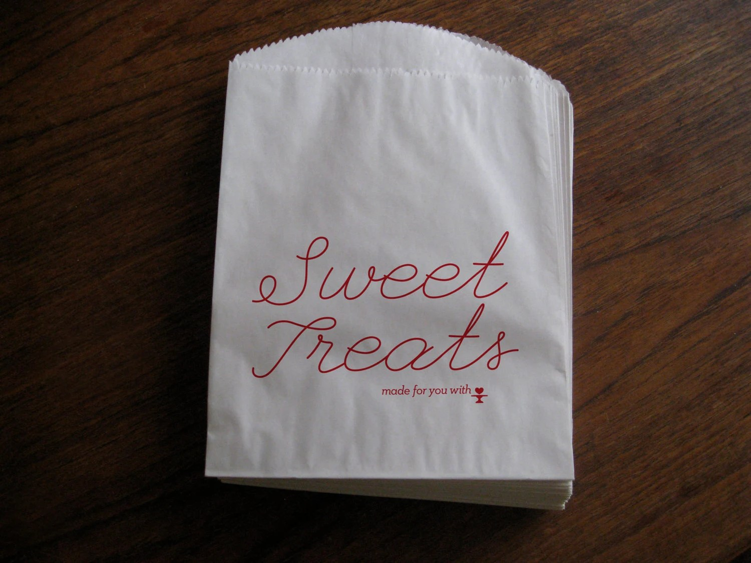 Sweet Treats Glassine lined Paper Favor Bag: Set of 6 - purepaperextract