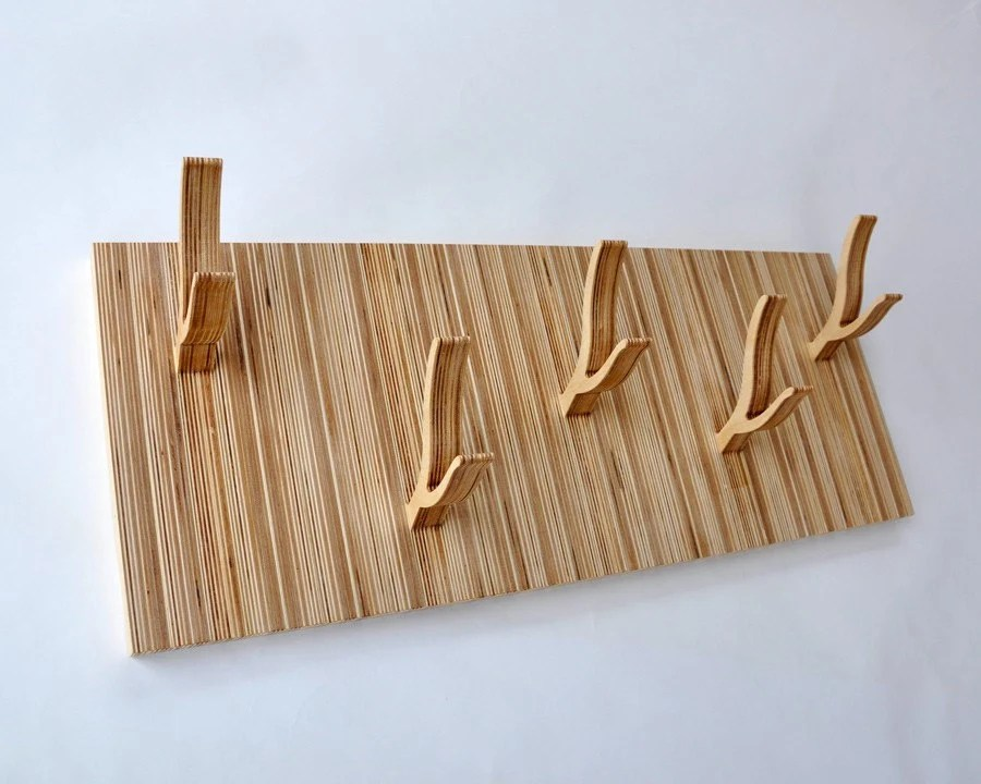 Modern 5-Peg Coat Rack - TWIGGY series - 'Up and Down'