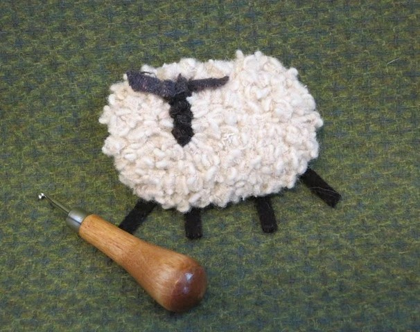 White Wool Sheep Pin, J489