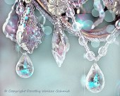 5x7 BLING -Chandelier Crystals- Sparkles- Aqua Blues Violet Lavender- Shabby Vintage - Bokeh -Affordable Fine Art Photography - dorataya