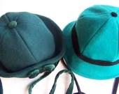 Vintage Girls Hats Wool Velvet 1940s 50s - stiickaround