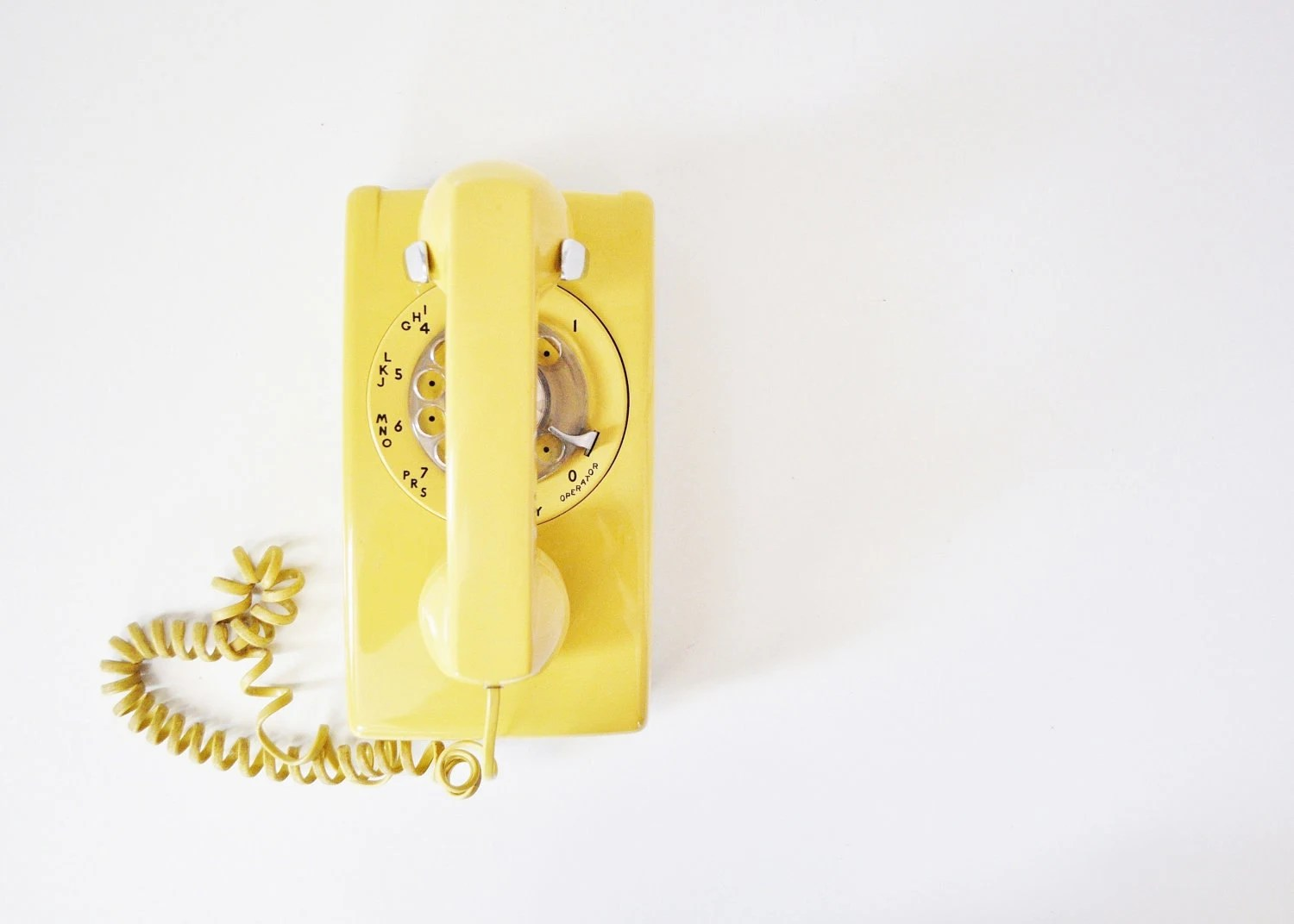 Canary Yellow Rotary Telephone - Working Bell Systems Phone