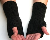 Crochet Pattern PDF Fingerless Gloves Long Fingerless Arm Warmers - OneStitch