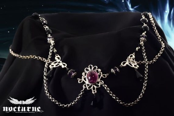 Purple and Black Gothic Circlet - Hair Jewelry Accessories - Gothic Jewelry