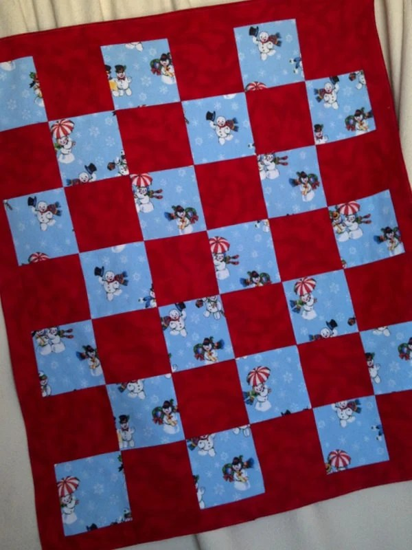 Snow People Flannel Blanket