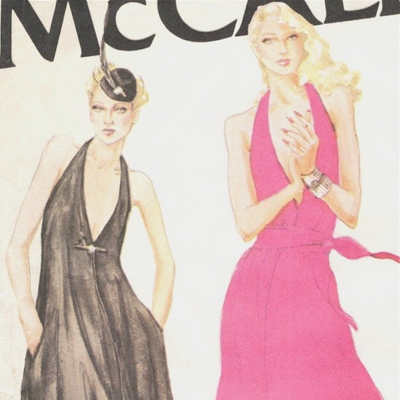black and pink disco dresses - McCall's 6576 illustration detail