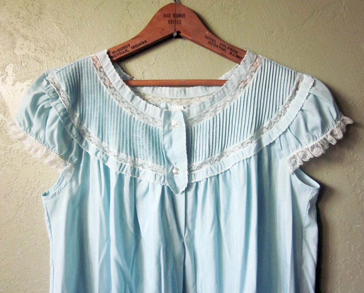 60s vintage blue nightgown