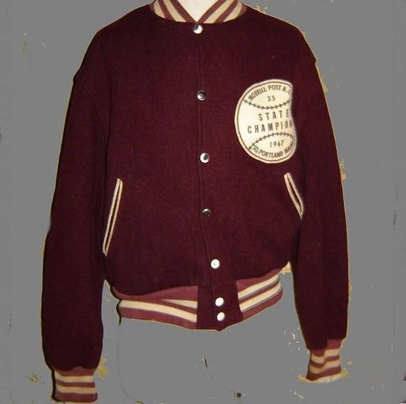 1967 wool state baseball champions jacket size L
