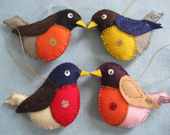 Felted Birds - Robin (FR1-4) - ytang