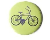 Pocket Mirror - Bicycle Mirror in Purple and Green - GandGButtons