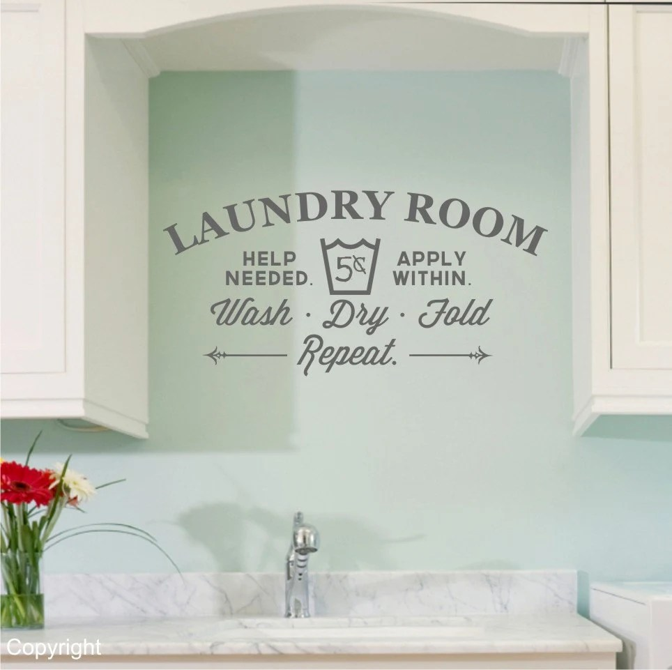 Laundry Room Vinyl Decal