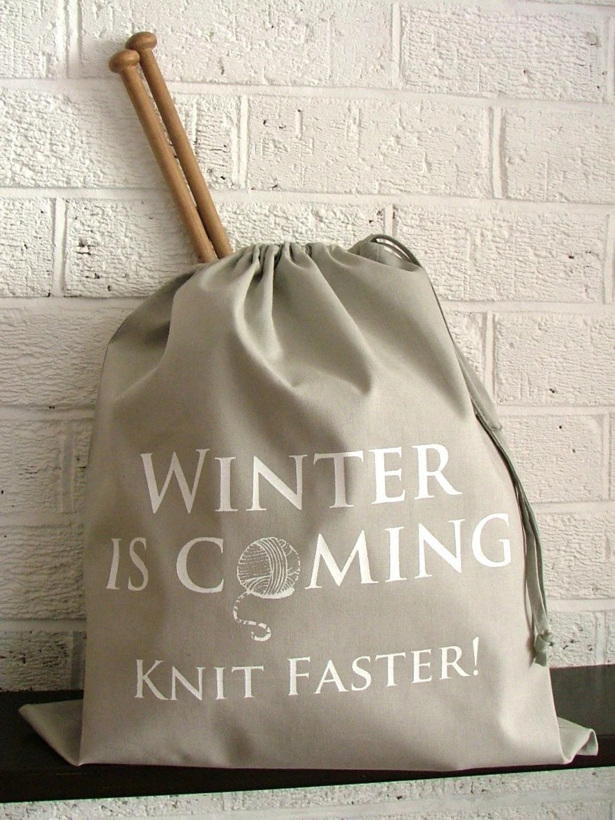winter is coming knitting bag