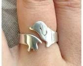 Sterling Silver Dachshund Ring - SarahDobranowski