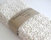 Crochet Wash Cloths - Crochet Dish Cloths - 100% Cotton - Set of Three - Crochet Washcloths - Crochet Dishcloths - Bathcloths - pomegranatefarm
