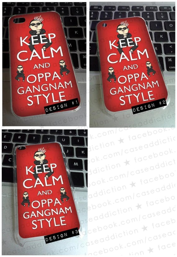 PSY GANGNAM STYLE korean korea kpop asian swag case cover for iPhone 4 4s 3g 3gs iPod touch 4