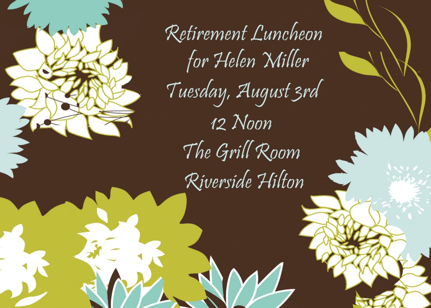 Retirement Luncheon Invitation