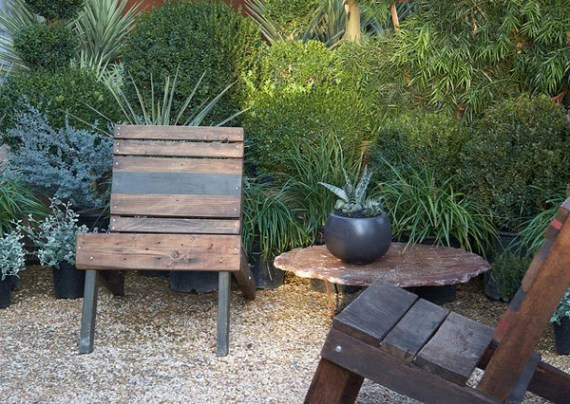 Old and Board Outdoor Chair