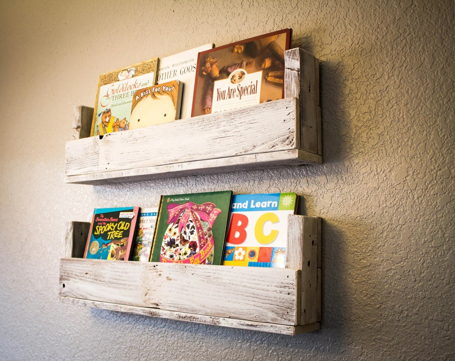 Cottage Chic Reclaimed Wood Bookshelves (Set of 2)
