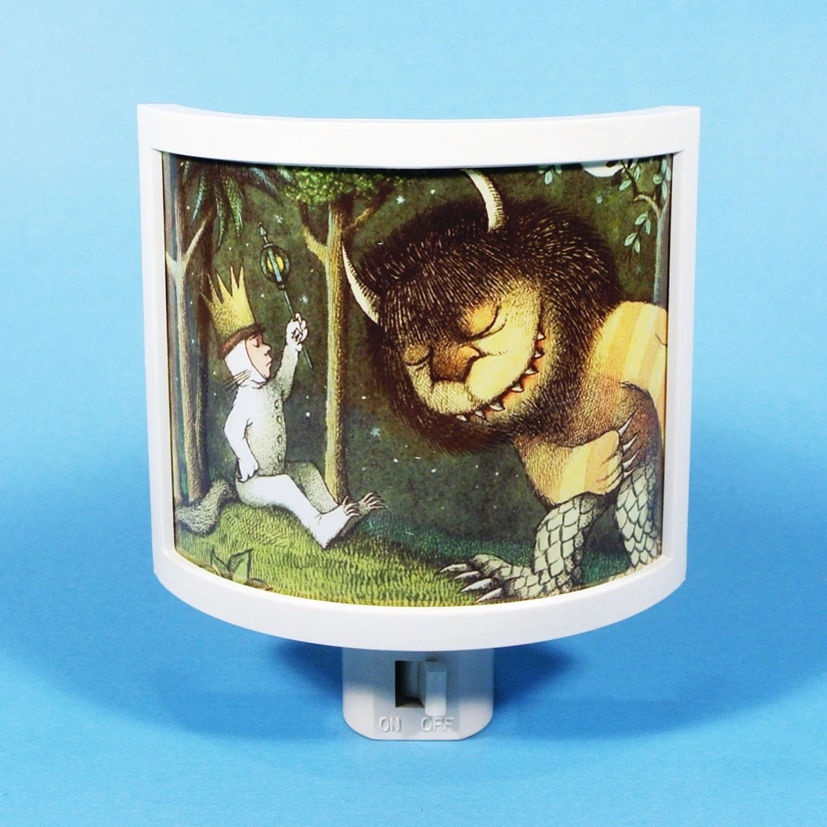 Where the Wild Things Are Max is King vintage kids book Night Light cute nursery bathroom hallway bedroom TAKE IT with - TakeItWith