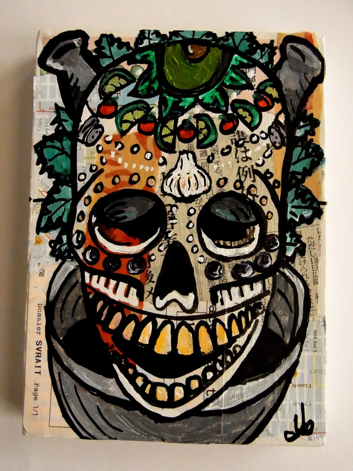 The Skullminary Arts: Guacamole 1. Original Painting