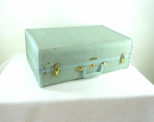 Vintage Light Blue 1950s Samsonite Luggage Case / Wardrobe - reAwesome