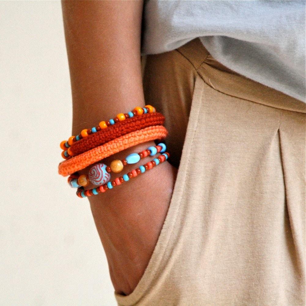 spring bracelet, pulsera primavera