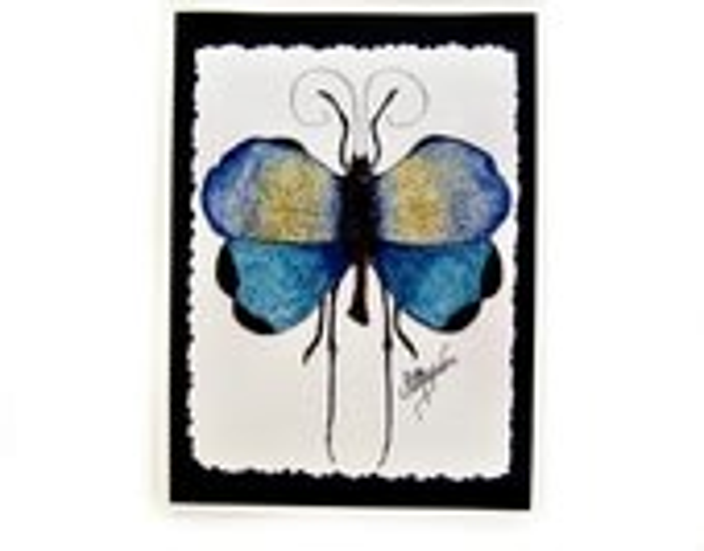 Notecards (Blue Tropical Grasshopper) Signed on Back - PatBarnes